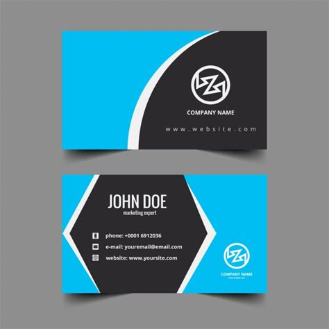 visiting card corporate visiting card with hexagonal shape vector free