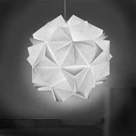 origami lights collapsible papercraft lighting origami light fixtures