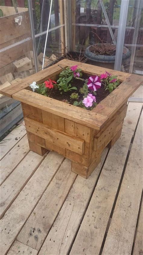 pallet planter boxes planter boxes made from wooden recycled things