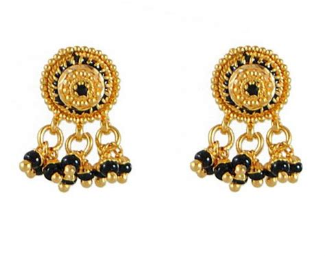 small black jewellery designs 22k small earrings ajer50656 22k small earrings with