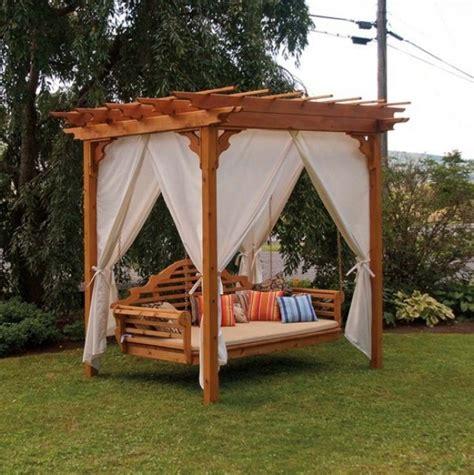 pergola swings cedar pergola swing bed stand home design garden