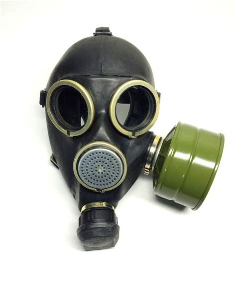 gas mask soviet russian black gas mask gp 7 size 2y medium 2 with