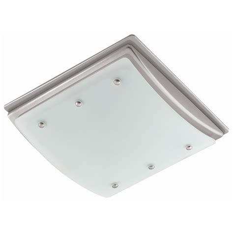 harbor bathroom fan with light shop harbor 2 sone 100 cfm nickel bathroom fan with