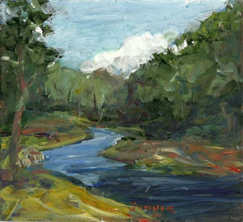 acrylic painting landscape original acrylic landscape painting late summer river clouds