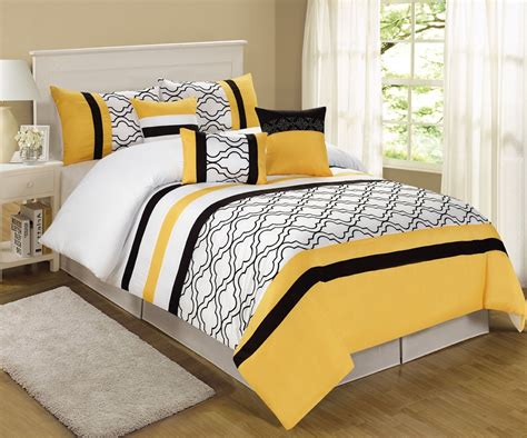 yellow and white bedding sets yellow and black bedding mateo yellow black