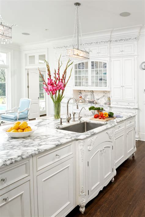 decorating ideas for kitchens with white cabinets kitchen cook up a in these 7 glamorous kitchens