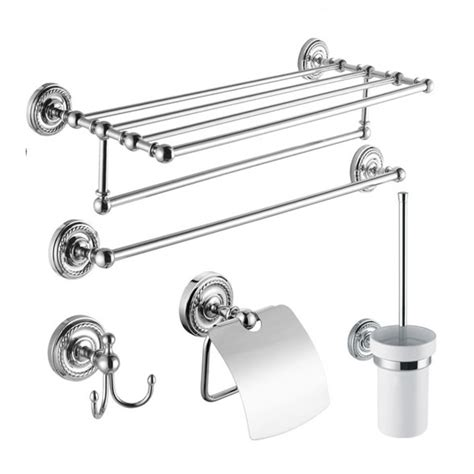 chrome bathroom accessories sets 5 chrome finish bathroom accessory set bcs002