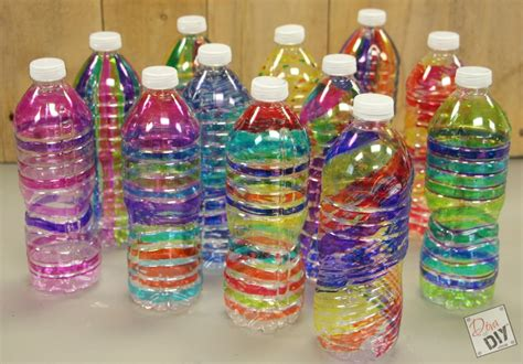 water bottle crafts for family plastic bottle craft colorful tree spirals