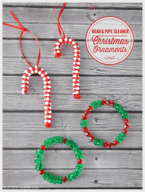 pipe cleaner bead ornaments diy bead pipe cleaner ornaments barone