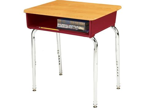 school desks ee2 adjustable height open front school desk woodstone