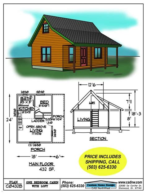 small cabin floorplans small cabin floor plans c0432b cabin plan details picmia