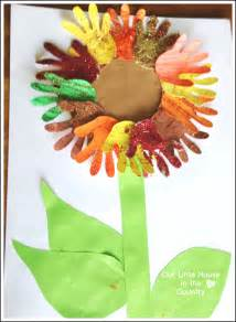 autumn arts and crafts for sunflower handprint 2 autumn fall activities for