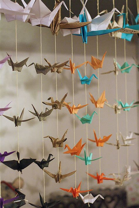 buy origami cranes diy paper decorations that will make you question a