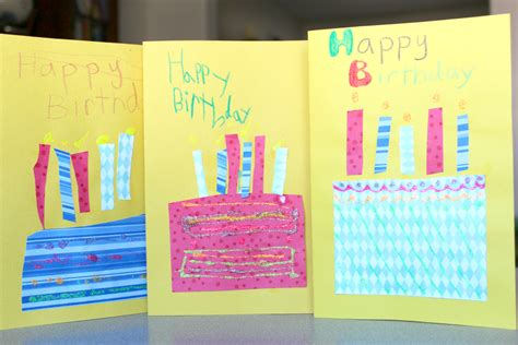 ideas for cards for children to make handmade birthday cards for true aim