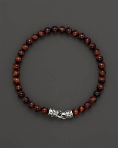 tiger eye bead bracelet mens tigers eye bead bracelet with riveted