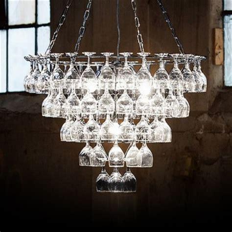 chandeliers glass vino contemporary wine glass chandelier