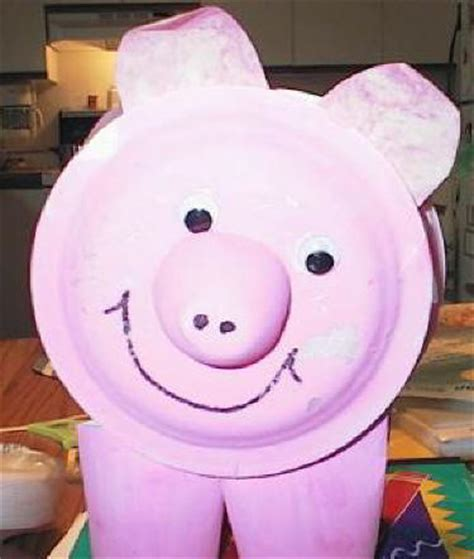 pig paper plate craft paper plate pig craft