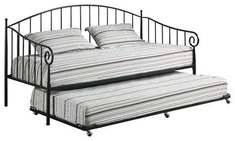 metal trundle bed frame pop up matte black metal size day bed daybed frame with pop