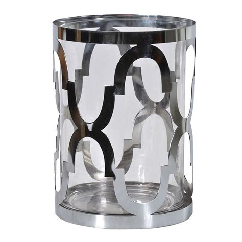 silver holders contemporary silver hurricane vase candle holder