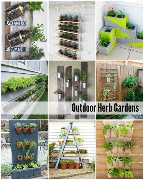 outside garden ideas outdoor herb garden ideas the idea room