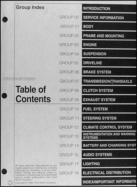 service manual 1996 ford contour repair manual download service manual car repair manuals