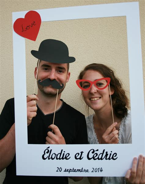 photobooth cadre polaro 239 d pour mariage et 3 accessoires mariage photo booth and wedding