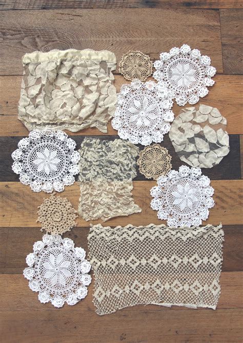 lace crafts projects 20 diy lace projects