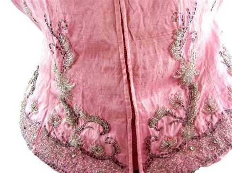 pink beaded top 60s pink silk beaded top blue 17 vintage fashion