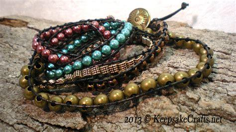 wrap bead bracelet tutorial wrap beaded bracelet tutorial
