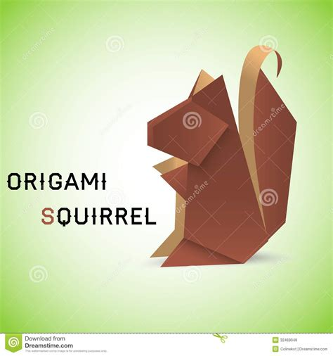 origami squirrel squirrel origami royalty free stock photos image 32469048