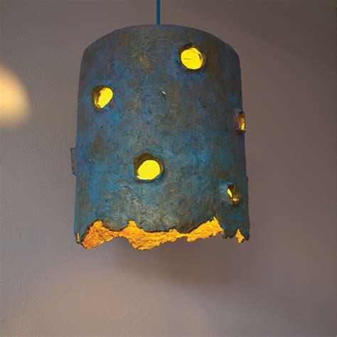 paper pulp crafts light sculpture holes on behance
