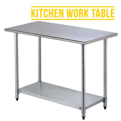 stainless steel kitchen prep table 2ft 215 4ft commercial stainless steel kitchen restaurant work