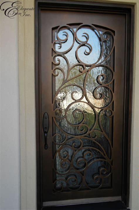 front door iron gates custom wrought iron front door single doors