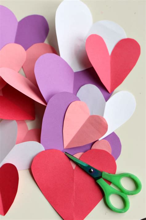 paper hearts craft easy s day craft no time for flash cards