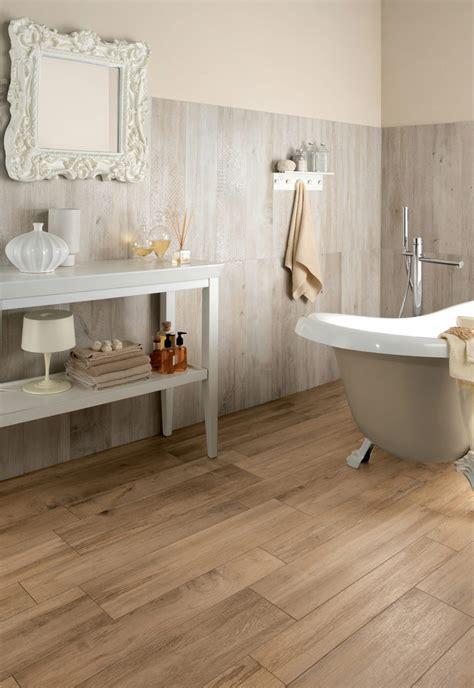 bathroom looks wood look tiles