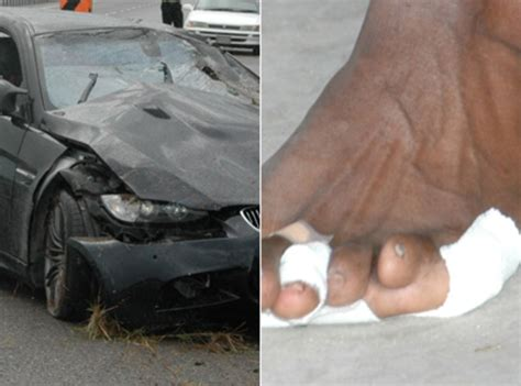 Usain Bolt Crash by Bolt Suffers Scratches After Serious Car Crash The