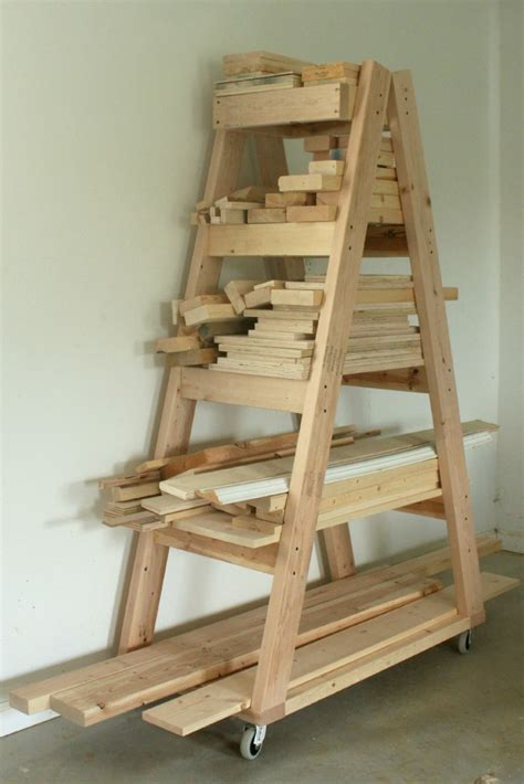 woodworking cl rack plans diy portable lumber rack