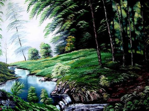 bob ross painting forest bob ross green forest painting for sale