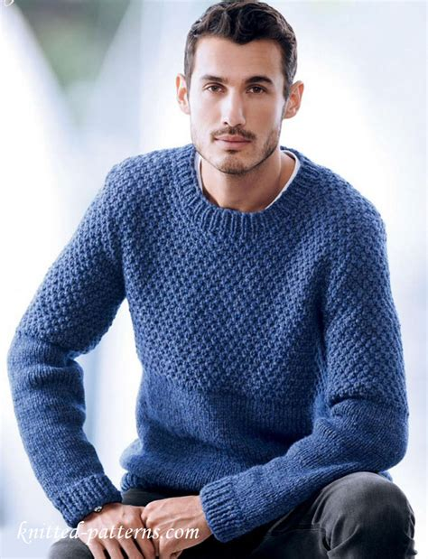 mens knitted sweater s sweater knitting pattern free