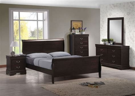 brown bedroom furniture sets acme furniture louis philippe iv brown 5 king
