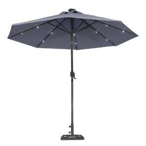 patio solar umbrella illumination with a solar patio umbrella yard surfer