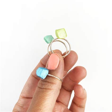 Diy Jewelry Geo Stackable Ringsmaritza
