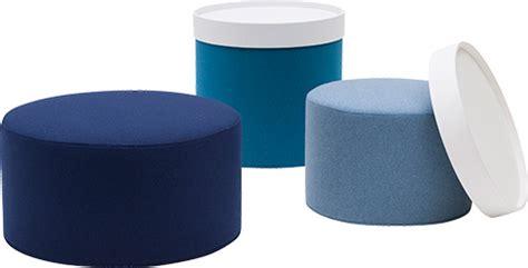 drum poufs footstools tables