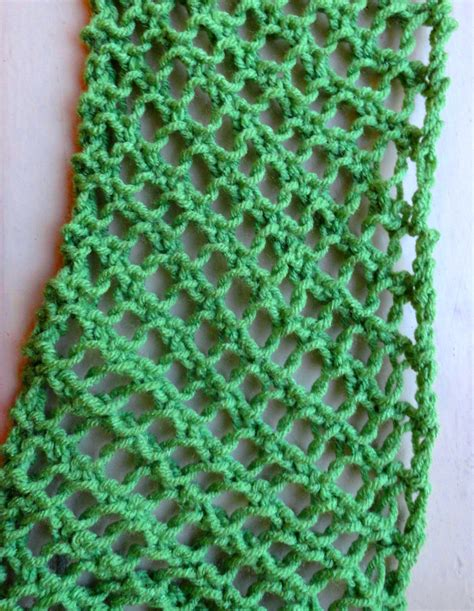 knitting on the net stitches fishnet scarf pattern lima bean lover