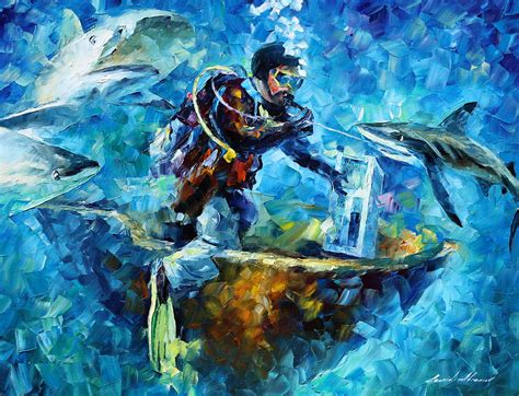 acrylic painting underwater water painting by leonid afremov