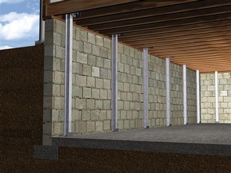 repair basement wall the powerbrace wall repair system installation in ohio