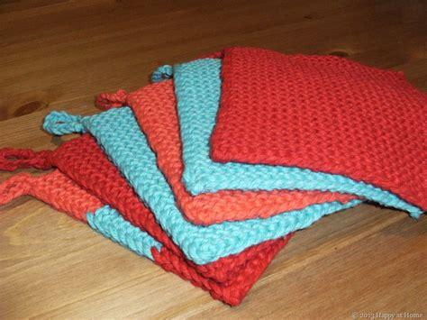 Happy At Home Knitting Easy Potholder Pattern