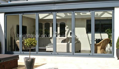 bi fold glass doors exterior cost china aluminum alloy folding door gates price cost of