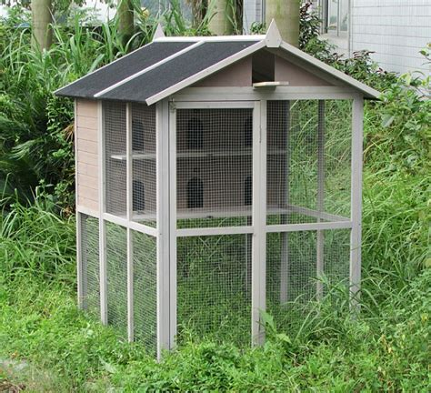 pigeonnier voliere en bois barnet pour pigeons colombes touterelles animaloo
