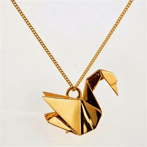 origami crane necklace origami paper crane necklace be jeweled